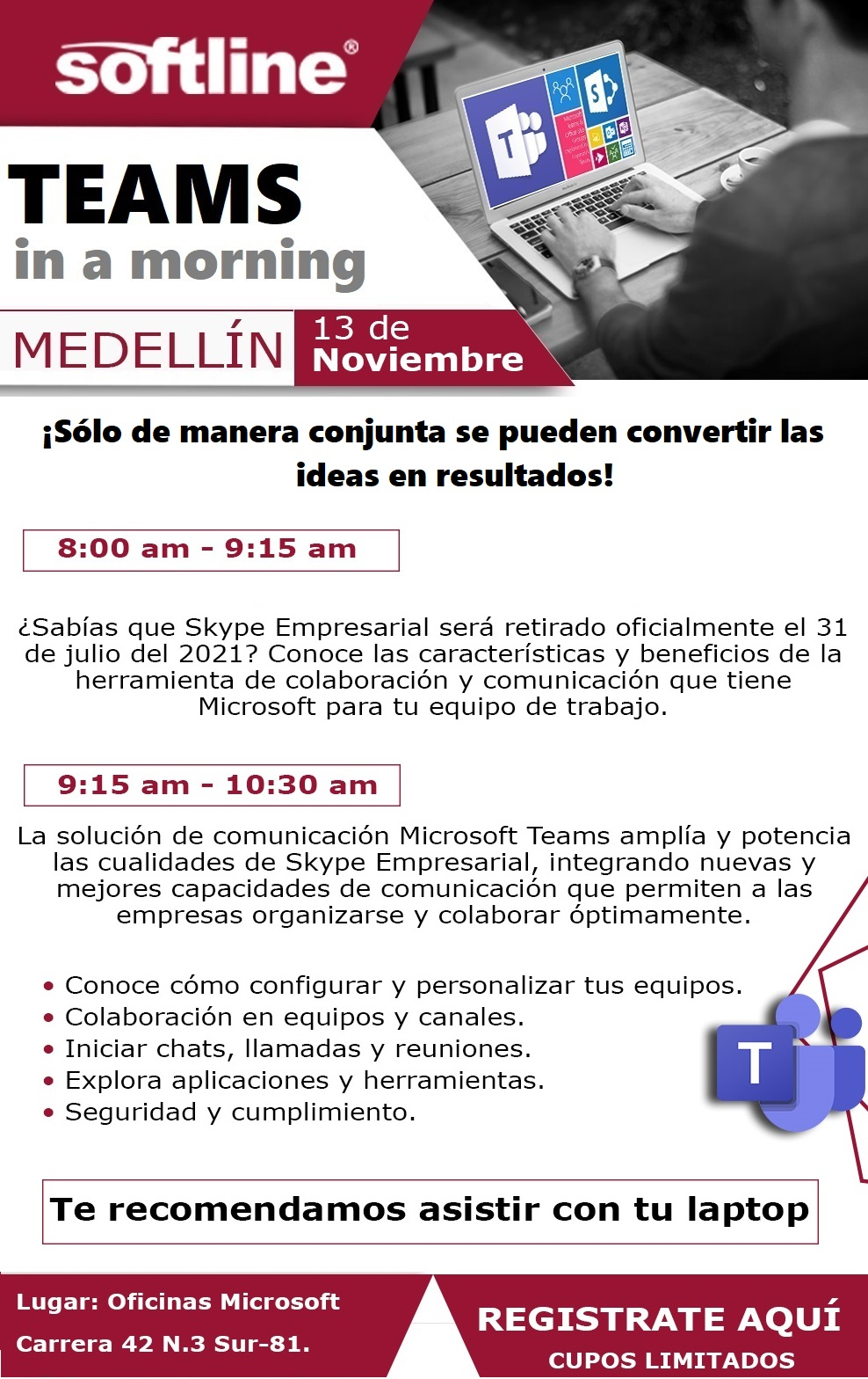 TEAMS NOV  MEDELLIN